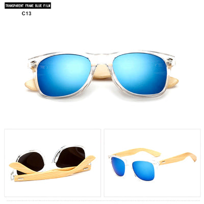 Unisex Vintage Fashion Outdoor Bamboo Sunglasses C13