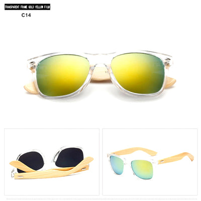 Unisex Vintage Fashion Outdoor Bamboo Sunglasses C14