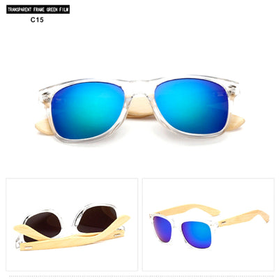 Unisex Vintage Fashion Outdoor Bamboo Sunglasses C15