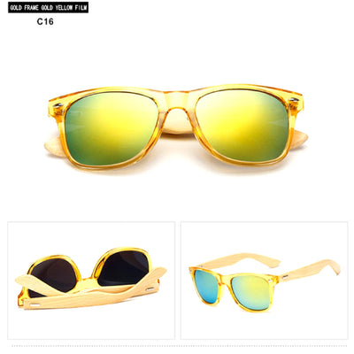 Unisex Vintage Fashion Outdoor Bamboo Sunglasses C16