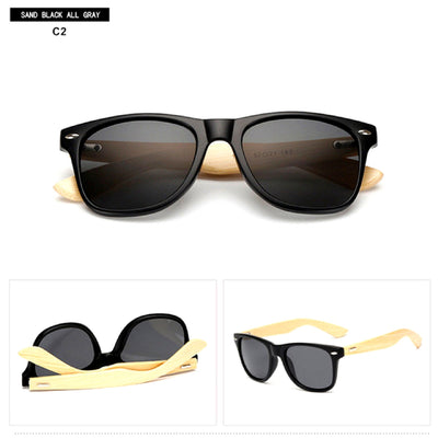 Unisex Vintage Fashion Outdoor Bamboo Sunglasses C2