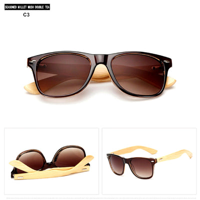 Unisex Vintage Fashion Outdoor Bamboo Sunglasses C3