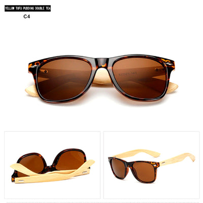 Unisex Vintage Fashion Outdoor Bamboo Sunglasses C4