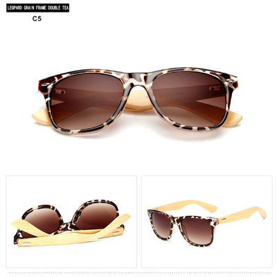 Unisex Vintage Fashion Outdoor Bamboo Sunglasses C5