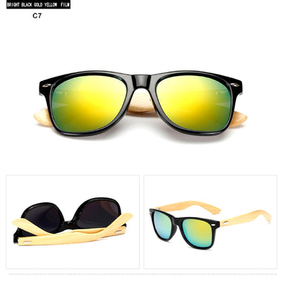 Unisex Vintage Fashion Outdoor Bamboo Sunglasses C7