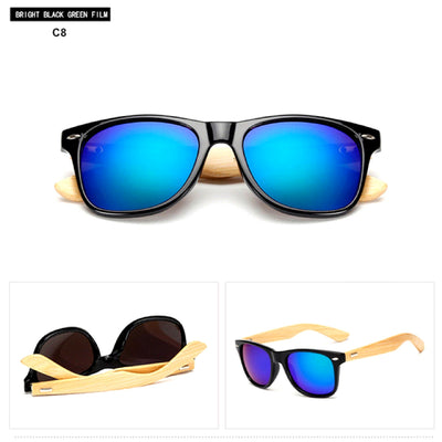 Unisex Vintage Fashion Outdoor Bamboo Sunglasses C8