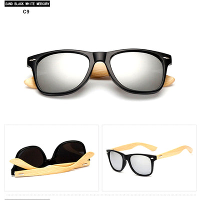 Unisex Vintage Fashion Outdoor Bamboo Sunglasses C9