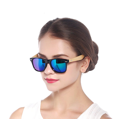 Unisex Vintage Fashion Outdoor Bamboo Sunglasses Womens