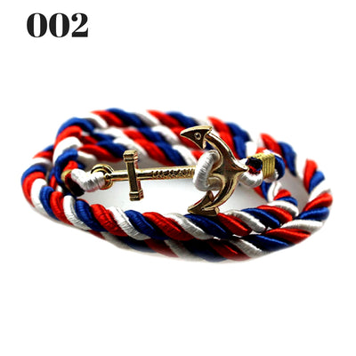 Unisex Vintage Multilayer Anchor Rope Bracelets 002