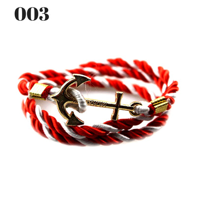 Unisex Vintage Multilayer Anchor Rope Bracelets 003