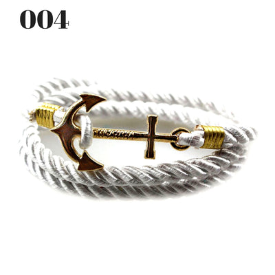 Unisex Vintage Multilayer Anchor Rope Bracelets 004