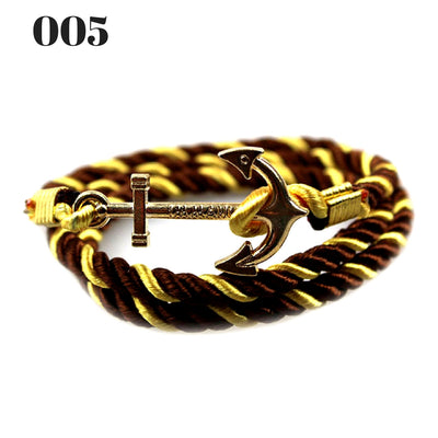 Unisex Vintage Multilayer Anchor Rope Bracelets 005