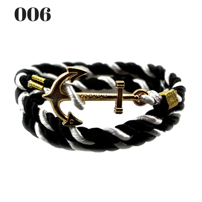 Unisex Vintage Multilayer Anchor Rope Bracelets 006