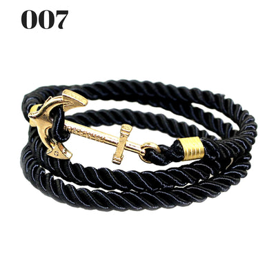 Unisex Vintage Multilayer Anchor Rope Bracelets 007