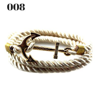 Unisex Vintage Multilayer Anchor Rope Bracelets 008