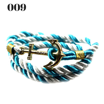Unisex Vintage Multilayer Anchor Rope Bracelets 009