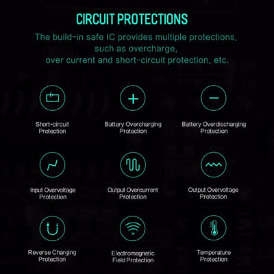 Wireless Charging Powerbank Circuit Protections