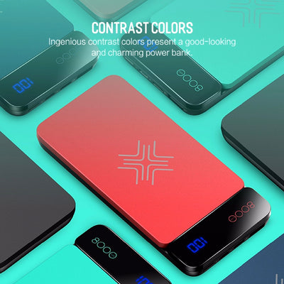 Wireless Charging Powerbank Contrast Colors