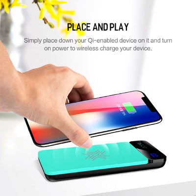Wireless Charging Powerbank Place and Play
