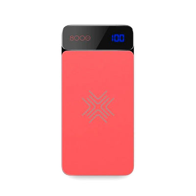 Wireless Charging Powerbank Red