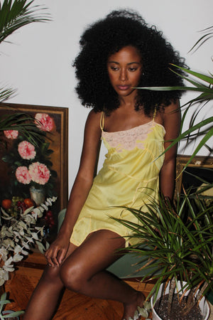 Canary Silk Romper