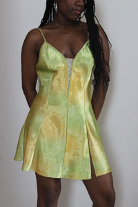 Green & Gold Slip Dress