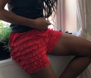 Red Ruffled Bloomers