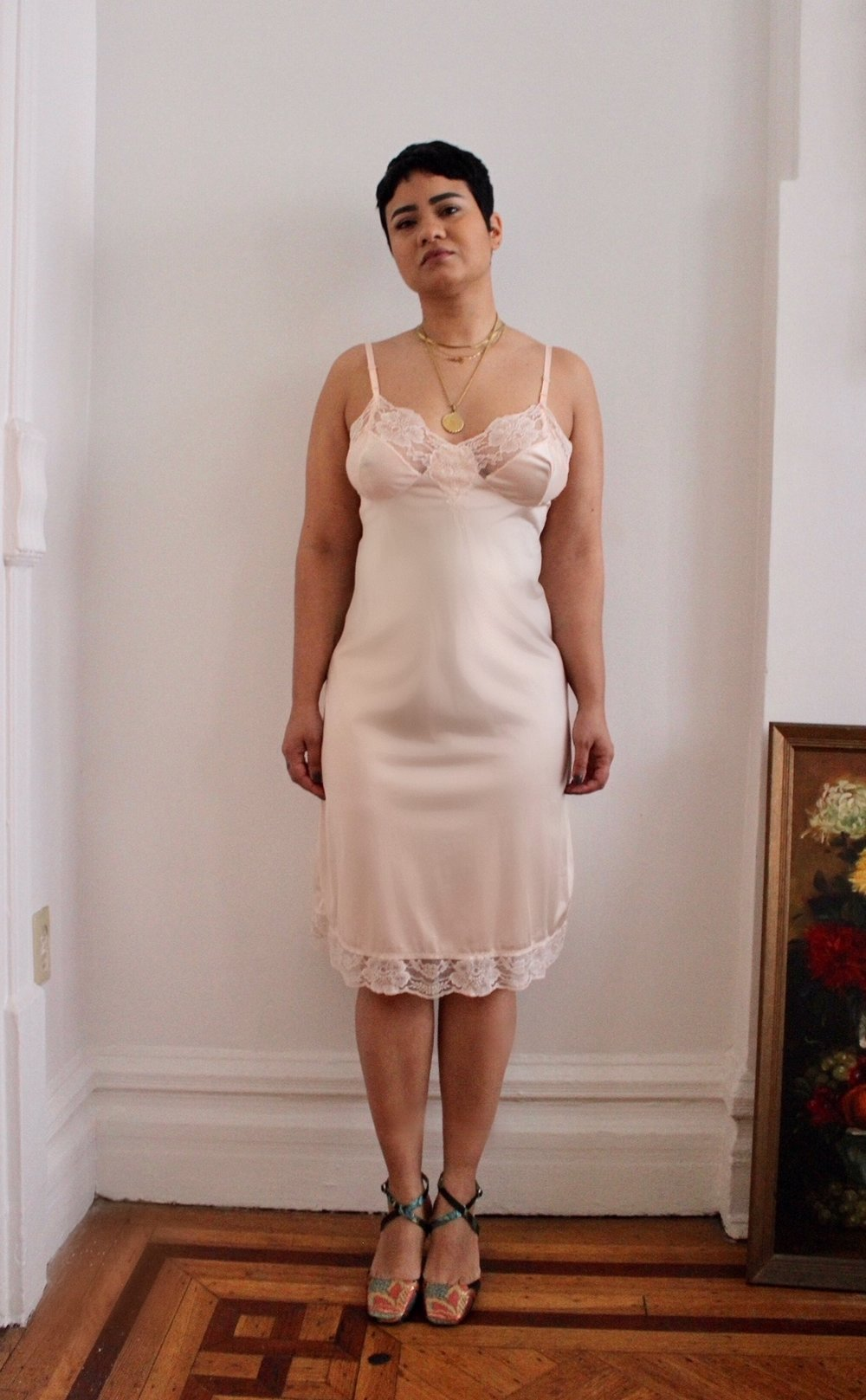 Cameo Pink Lace Slip