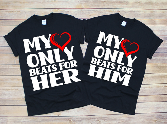 Heartbeat Couple Tees