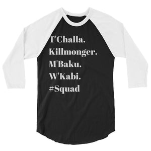 Men of Wakanda #Squad 3/4 sleeve Tee