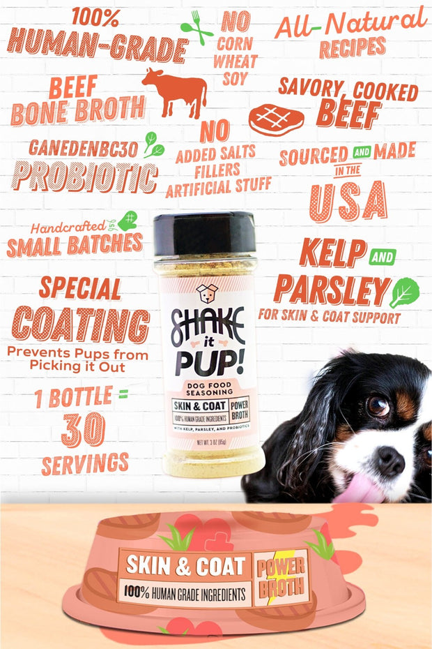 """Skin & Coat + Probiotics""<br>Dog Food Seasoning"