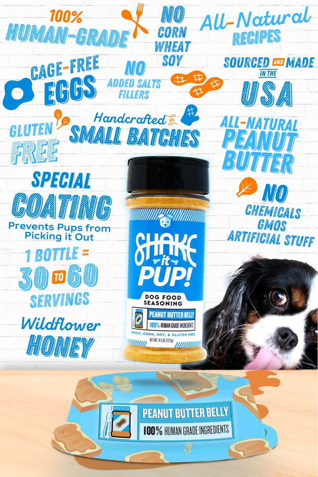 """Peanut Butter Belly""<br>Dog Food Seasoning"