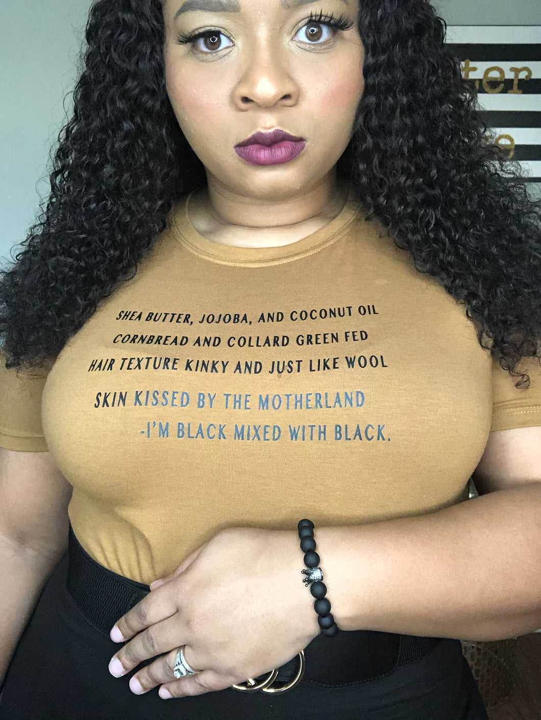 I'm Black Mixed With Black T-shirt (Ships 11/18)