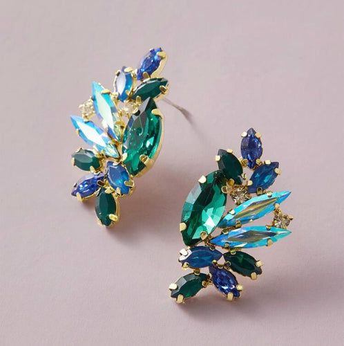 Blue Hues Gem Earring
