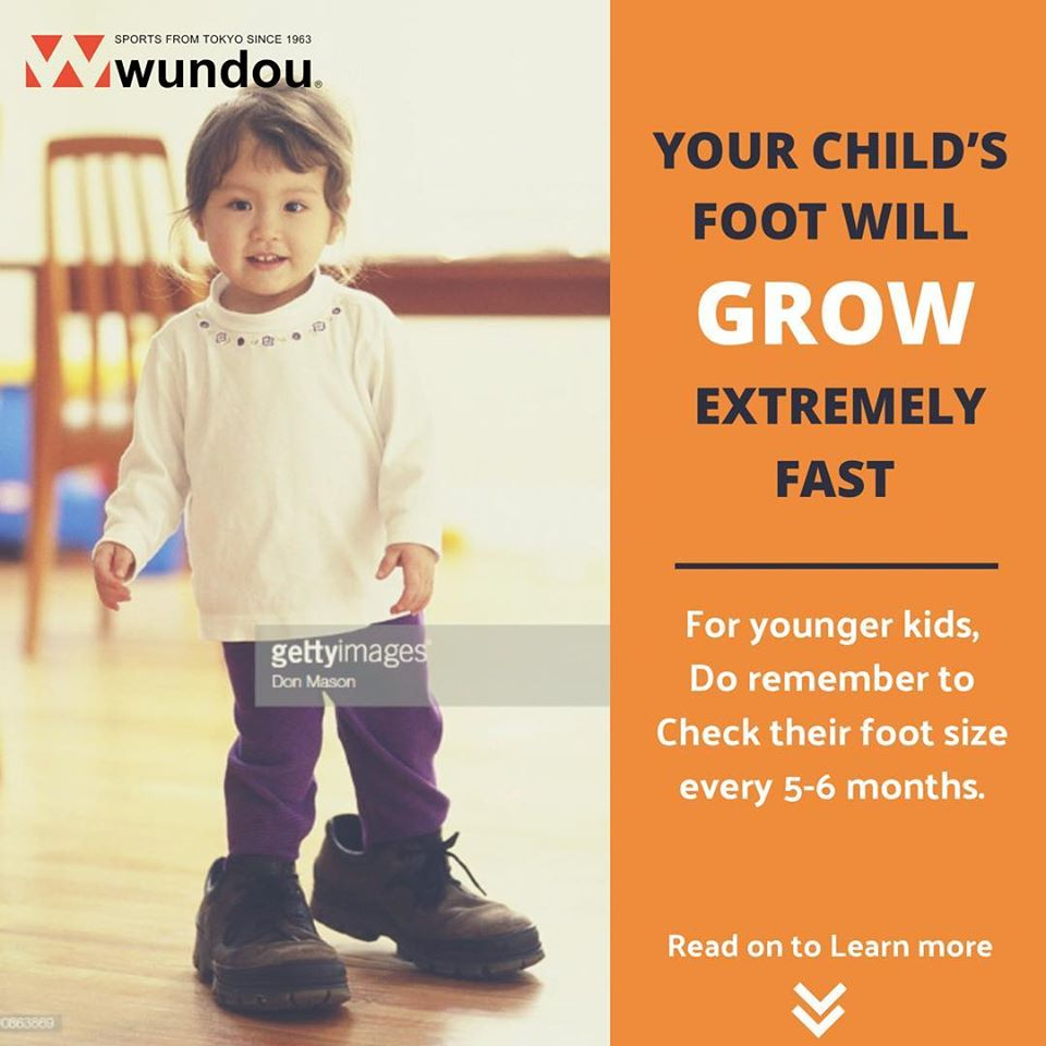 Your child's foot will grow extremely Fast !!!