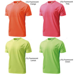 (Adult Size) Fluorescent Colour - Dry Light Roundneck Tshirt