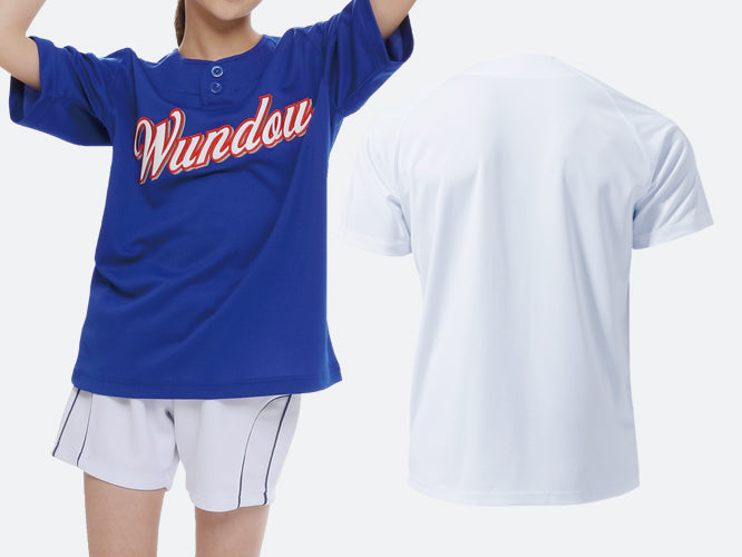 P2710 - 2-Button Baseball Jersey