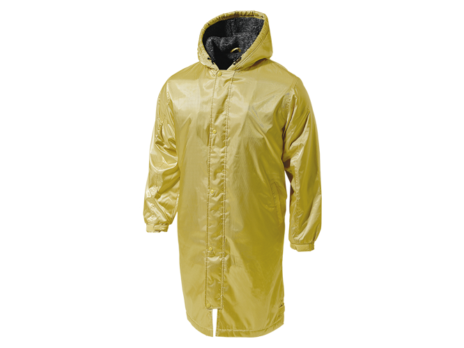 P6880 - Semi-Long Boa Bench Coat