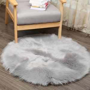 Faux Fur Sheepskin Rug (Artificial)