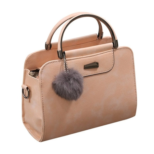 Women's PU and Satin Messenger Handbag