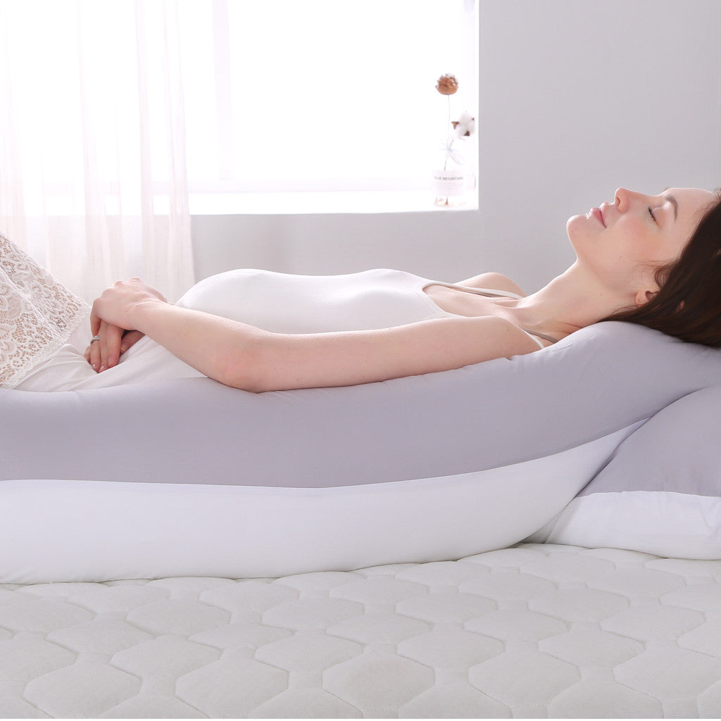 Women Maternity Solid Sleeping U-Shaped Pillow for Pregnancy and Nursing Pillow