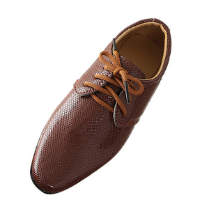 British Style Kids Leather Shoes