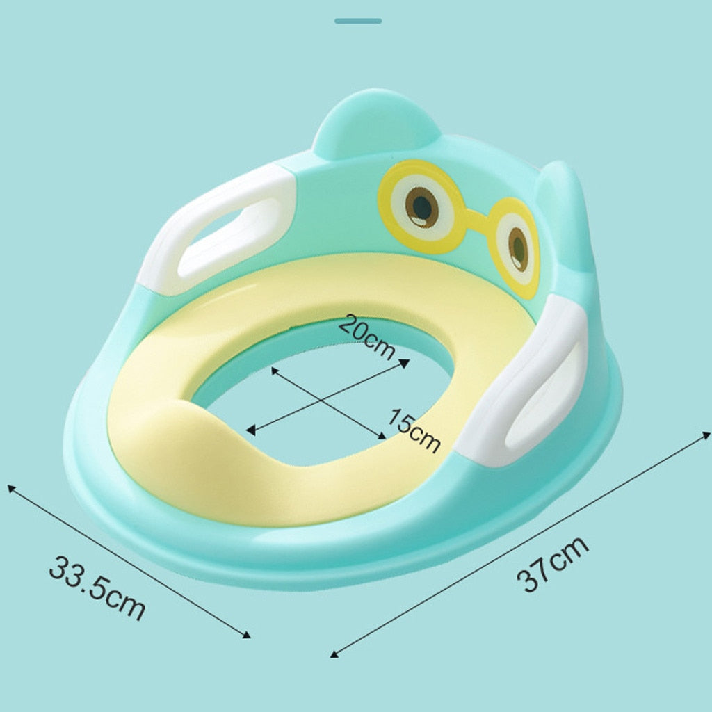 Potty Training Seat For Kids (With Cushion Handle & Backrest)