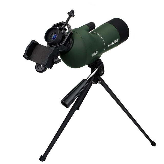 Svbony SV28 50/60/70mm Spotting Scope Zoom Telescope Waterproof Monocular & Universal Phone Adapter Mount