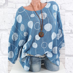 Polka Dot Long Sleeve Tunic Shirt