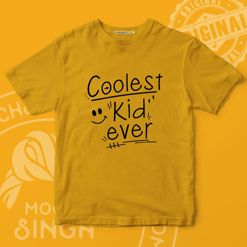 Coolest Kid Ever Printed T-Shirt