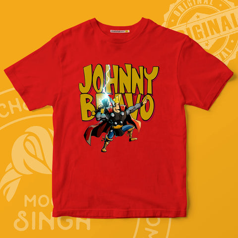 Johnny Bravo Printed T-Shirt