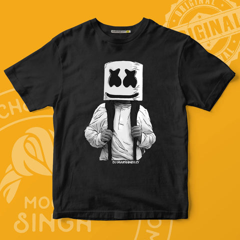 Star DJ Marshmello Printed T-Shirt