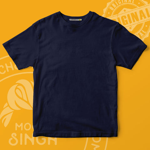 Navy Blue Solid T-Shirt