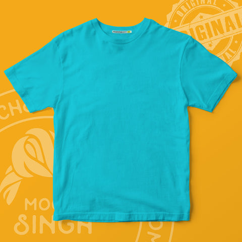 Sky Blue Solid T-Shirt